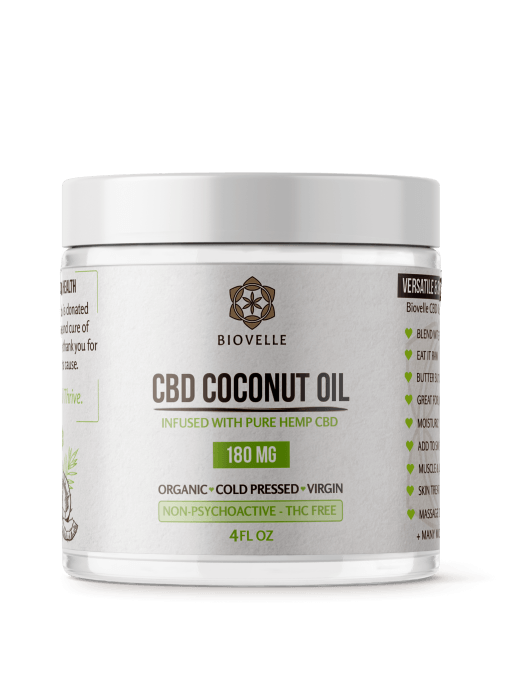 Biovelle cbd coconut oil jar